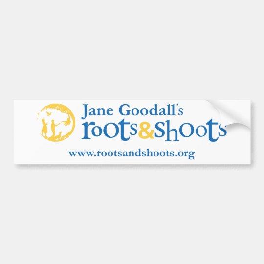 Roots & Shoots Bumpersticker Bumper Sticker
