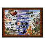 Roots & Wings collage Poster