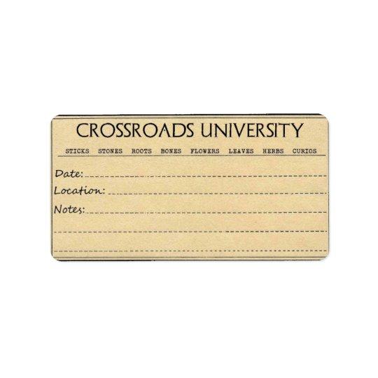Rootwork Label Address Label