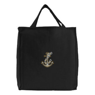 Rope Anchor Nautical Stitches Bags