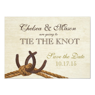 Rope and Horseshoes Save the Date Card