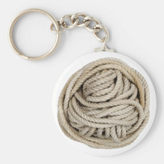 rope basic round button key ring