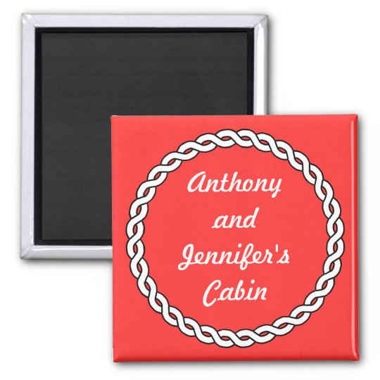 Rope Border Red Stateroom Door Marker red Magnet