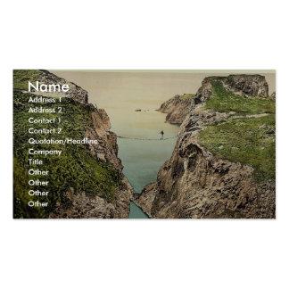 Rope Bridge. Carrick-a-Rede. Co. Antrim, Ireland r Business Card Templates
