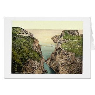 Rope Bridge. Carrick-a-Rede. Co. Antrim, Ireland r Greeting Card