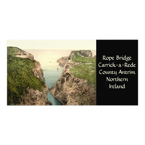Rope Bridge, Carrick-a-Rede, County Antrim Photo Greeting Card