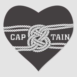 Rope Capain Sailor Knot Heart Sticker