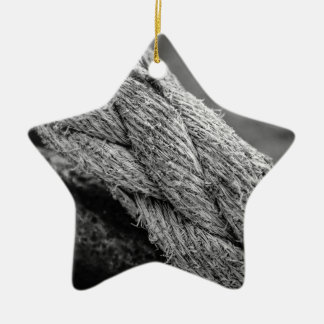 Rope Ceramic Star Decoration