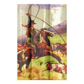 Rope 'em cowboy customised stationery