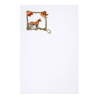 Rope Frame with Horse Stationery Paper
