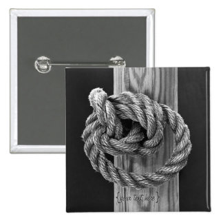 Rope Knot 15 Cm Square Badge