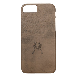 Rope Monogram Saddle Leather Look Phone Case