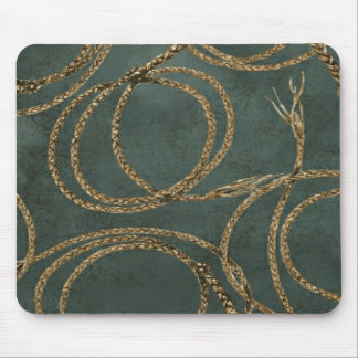 Rope N Around Teal Blue ~ Mouse Pad