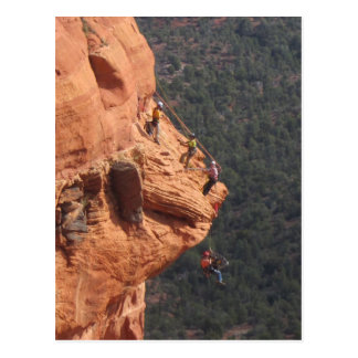 Rope Rescue Training on the Red Rocks Postcard