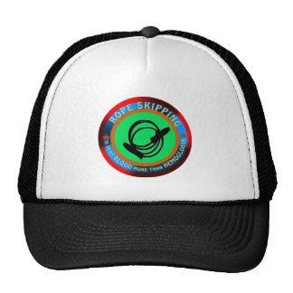 Rope skipping designs trucker hat