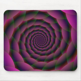 Rope Spiral in Purple Red and Green Mouse Pad