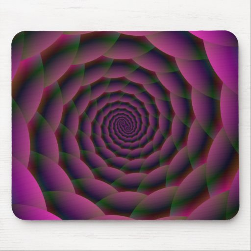 Rope Spiral in Purple Red and Green Mousepads