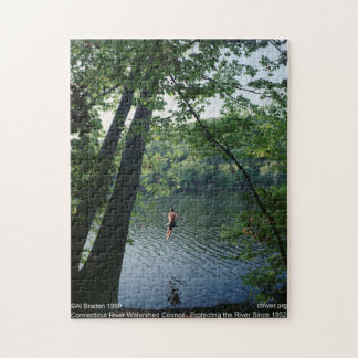 Rope Swing Puzzle, Connecticut River - Al Braden Jigsaw Puzzle