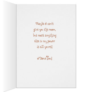 Rope The Moon - I Love You! Card