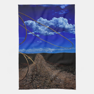Rope the Road Ahead Landscape Kitchen Towel