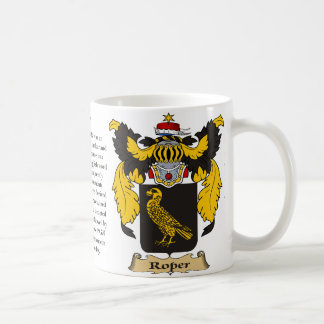 Roper, the Origin, the Meaning and the Crest Coffee Mug