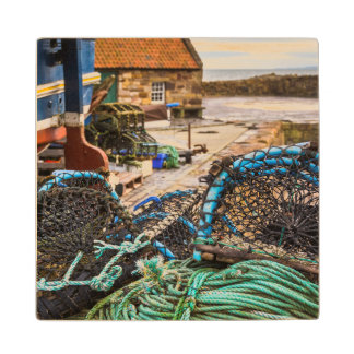 Ropes And Lobster Pots | Pittenweem, Scotland Wood Coaster