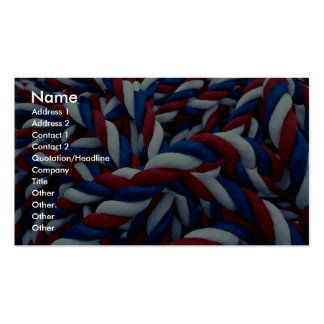 Ropes on a Newfoundland ship Photo Pack Of Standard Business Cards