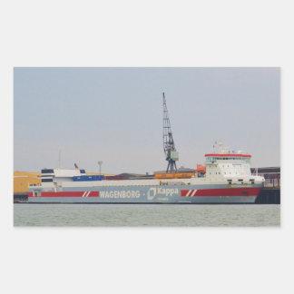 RoRo Ferry Bothniaborg Rectangle Sticker
