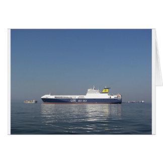 RoRo Ferry Greeting Card
