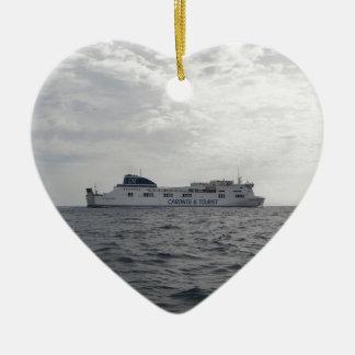 RoRo Passenger Ferry Cartour Gamma Ceramic Heart Decoration
