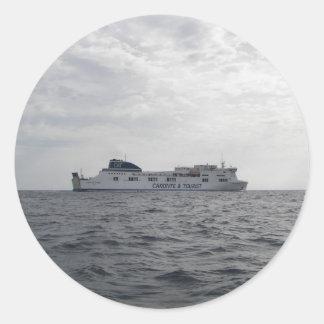RoRo Passenger Ferry Cartour Gamma Round Sticker