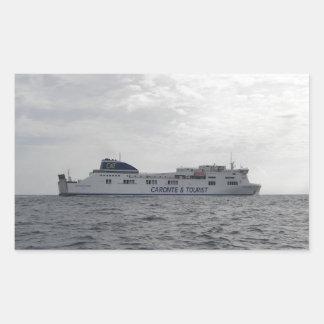 RoRo Passenger Ferry Cartour Gamma Rectangle Sticker