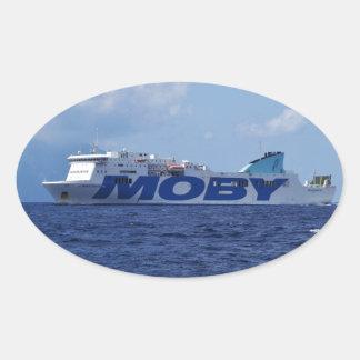 RoRo Passenger Ferry Maria Grazia On Oval Sticker
