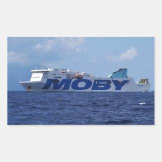 RoRo Passenger Ferry Maria Grazia On Rectangle Sticker