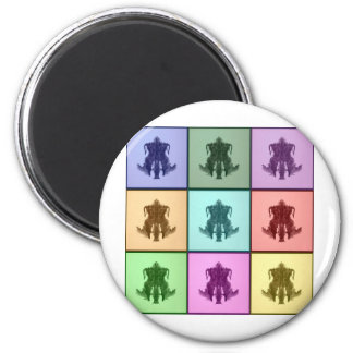 Rors Coll Four Untitled 6 Cm Round Magnet