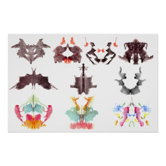 Rorschach Ink Blots Poster