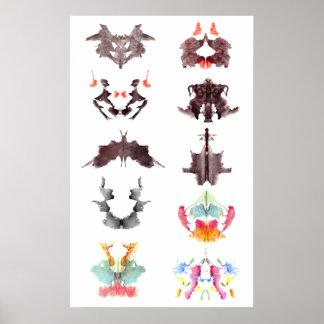 Rorschach Ink Blots Poster