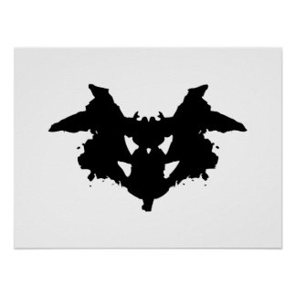 Rorschach Inkblot Poster
