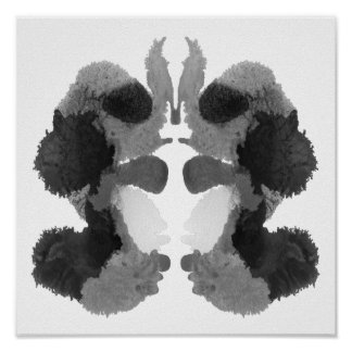Rorschach Inkblot Test Fun Art Print