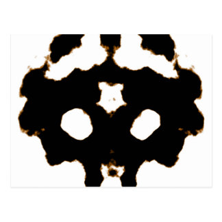 Rorschach Test of an Ink Blot Card in Black