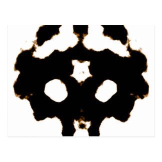 Rorschach Test of an Ink Blot Card in Black Postcard