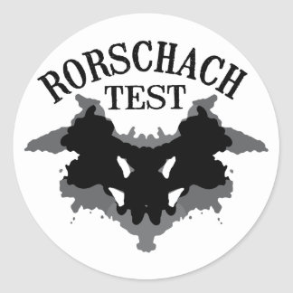 Rorschach Test Round Sticker