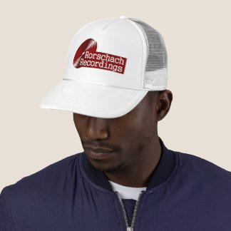 Rorshach Recordings Base Label Red Trucker Hat