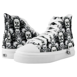 Rorshach Skull Pattern Printed Shoes