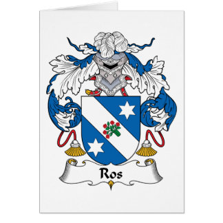 Ros Family Crest Greeting Cards