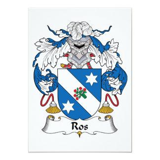 Ros Family Crest Invitations
