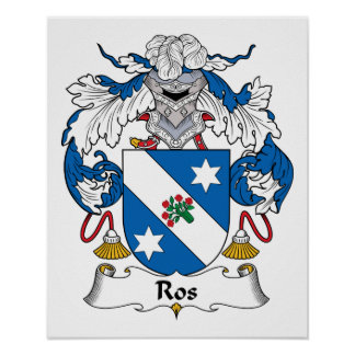 Ros Family Crest Poster