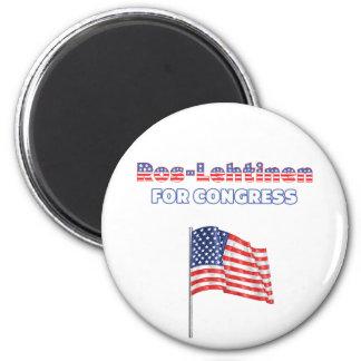 Ros-Lehtinen for Congress Patriotic American Flag 6 Cm Round Magnet