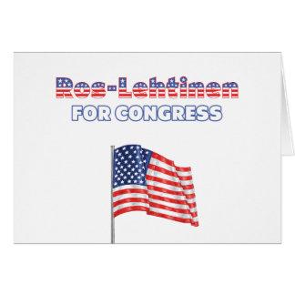 Ros-Lehtinen for Congress Patriotic American Flag Greeting Card