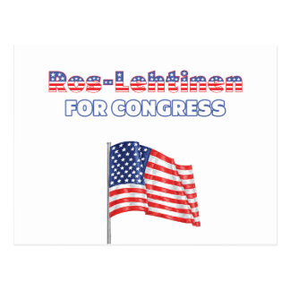 Ros-Lehtinen for Congress Patriotic American Flag Postcard